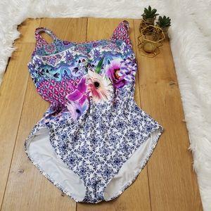 Gottex Floral One Piece Swim Suit